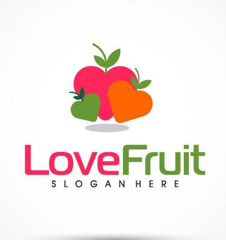 Love fruit logo vector free download