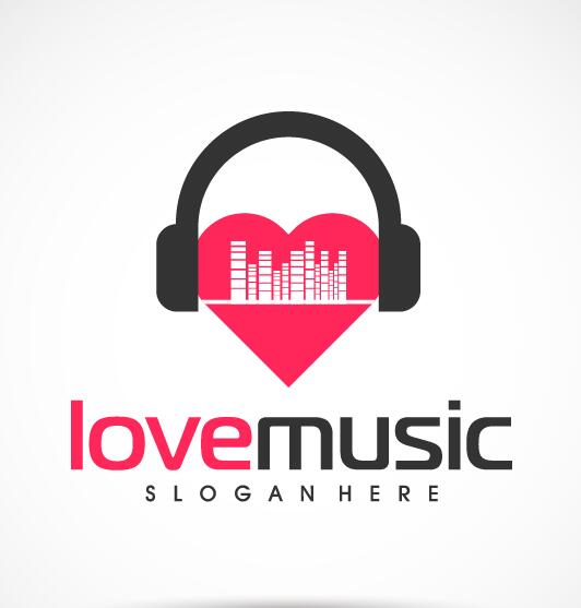 Love music logo vector