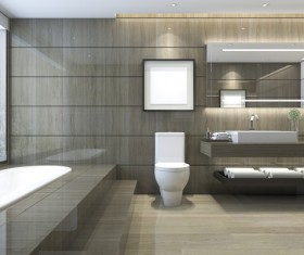 Luxurious tiled decorated with modern classic bathroom Stock Photo 05