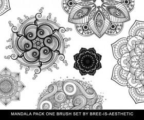 Mandala photoshop brushes set