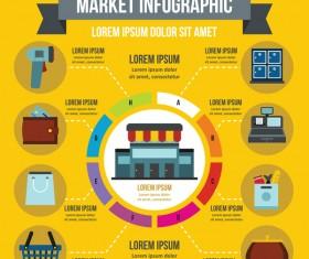 Market infographic design vector