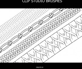 Material photoshop brushes