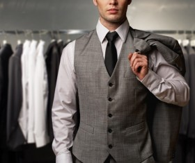 Men wear suits Stock Photo