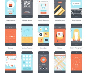 Mobile APP UI interface vector material