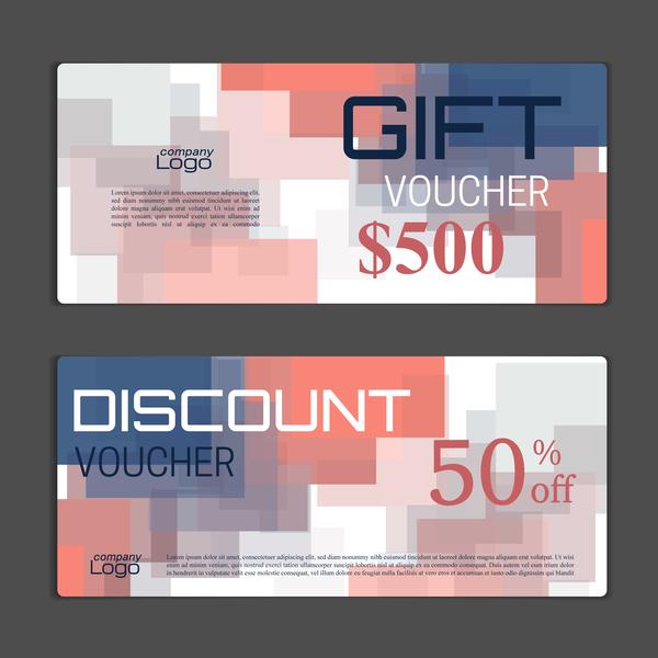 Modern gift voucher template vectors 01