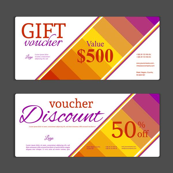 Modern gift voucher template vectors 03