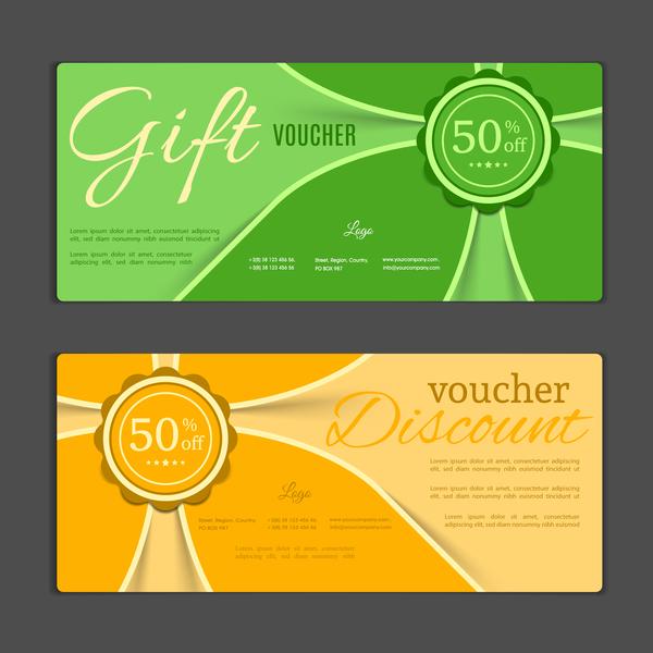 Modern gift voucher template vectors 06