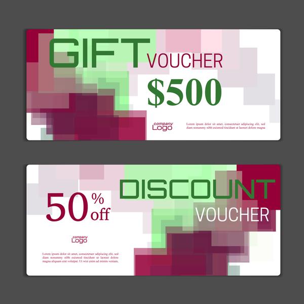 Modern gift voucher template vectors 08