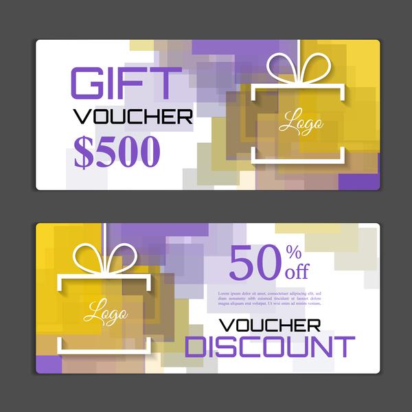 Modern gift voucher template vectors 09