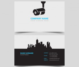 Monitor company business card vector 01