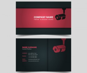 Monitor company business card vector 02
