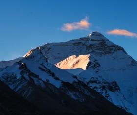 Mount Everest in Tibet Stock Photo