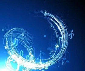 Neon line music background vectors 04