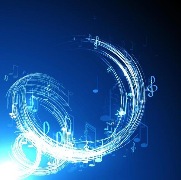 neon line music background vectors 04 vector background