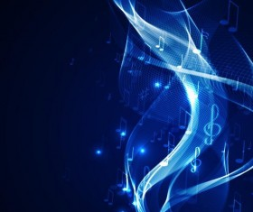 Neon line music background vectors 05