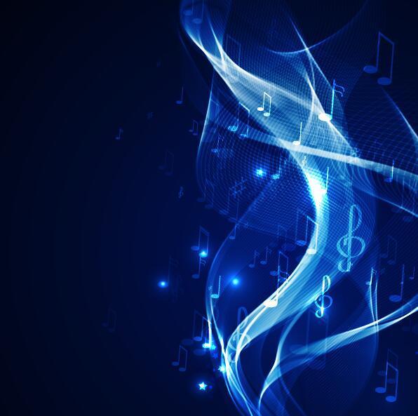Neon line music background vectors 05