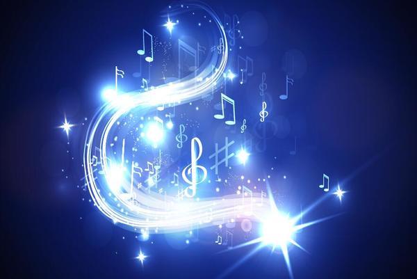 neon line music background vectors 06 vector background