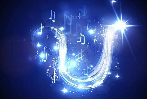 Neon line music background vectors 07