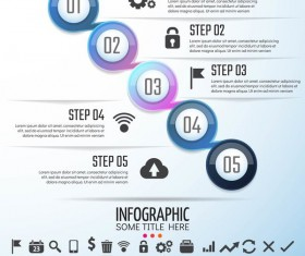 Option banner with circle infographic vector 05