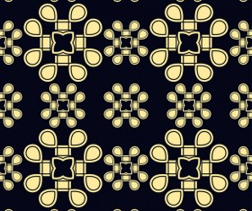 Ornament golden vintage seamless pattern vector material 03