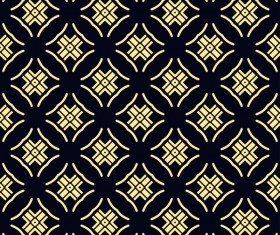 Ornament golden vintage seamless pattern vector material 05