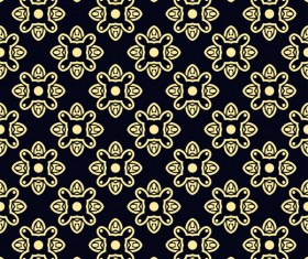 Ornament golden vintage seamless pattern vector material 08