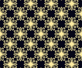 Ornament golden vintage seamless pattern vector material 10