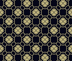 Ornament golden vintage seamless pattern vector material 11