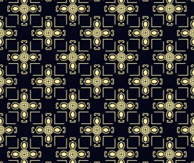 Ornament golden vintage seamless pattern vector material 12