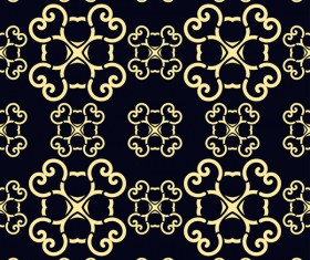 Ornament golden vintage seamless pattern vector material 13