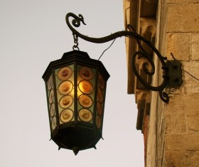 Outdoor wall old wall lamp Stock Photo