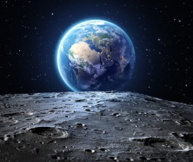 Outer space shoot beautiful earth Stock Photo 01
