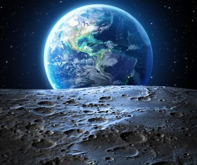Outer space shoot beautiful earth Stock Photo 02