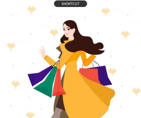People shopping fashion background vector 08