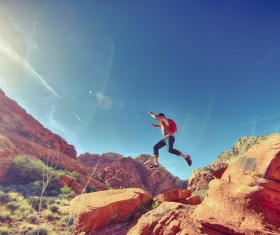 People who love outdoor sports Stock Photo