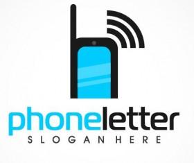 Phone letter logo vector