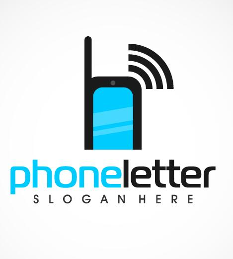 Phone letter logo vector