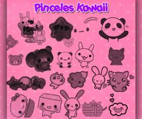 Pinceles Kawaii photoshop brushes