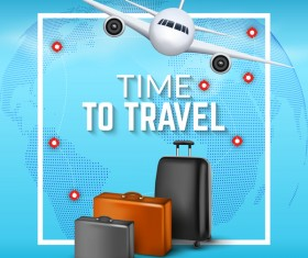 Plane travel world vector