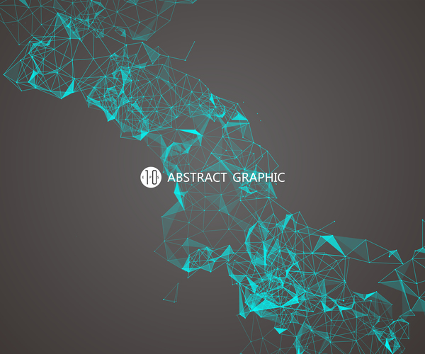 Points with Lines and connection abstract background vector 04