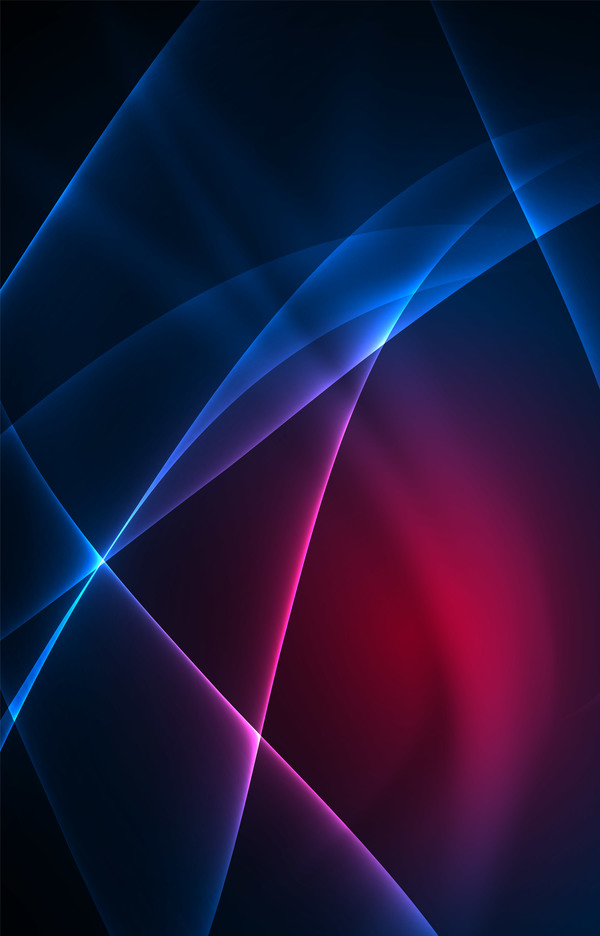 Purple with blue light lines background vector 02