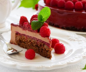 Raspberry Sandwich Cake Stock Photo