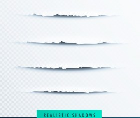 Realistic paper with shadows illustration vector 01