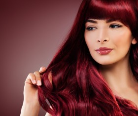 Red hair woman fashion model Stock Photo 02