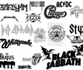 Rock Band Logos photoshop brushes