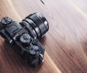 SLR camera close-up Stock Photo