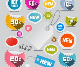 Sale tag with sticker sticker vector