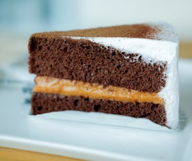 Sandwich Chocolate Cake Stock Photo