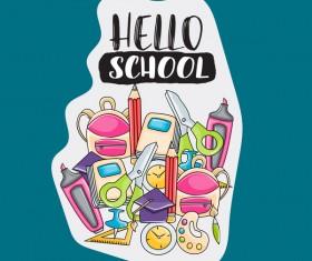 School hand drawn background vector 02