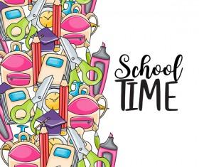 School hand drawn background vector 06